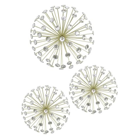 I used the smallest size mirror from a set of mirrors i bought at target and a simple plywood circle from michaels, but you could also use any mirror with a. Three Hands Jeweled Starburst Wall Art - Set of 3 - Walmart.com - Walmart.com