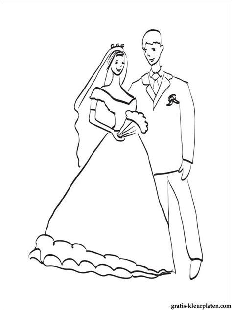 kleurplaten bruidspaar gratis kleurplaten