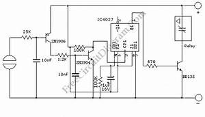 Touch Switch Activated Relay  U2013 Electronic Circuit Diagram