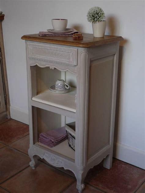 cuisine ancienne repeinte ancienne table de chevet gris lapin