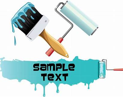 Brush Paint Brushes Vector Painting Clip Roller
