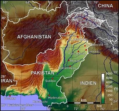 Pakistan Map Topographic Asia Maps Worldofmaps