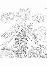 Coloring Ski Slope Mountain Teacherspayteachers Skiing Slopes sketch template