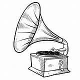 Phonograph Fonografo Phonographe Phonographen Grammofono Fonograaf Skissar Schets Cosby Gramophone Grammophon Yesteryear Abbozzo Vinile Annotazione Giradischi Ilustrace Skiss Isolata Glifo sketch template