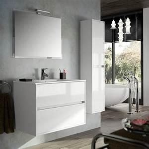 Meuble de salle de bain blanc pas cher maison design for Meuble salle de bain blanc pas cher