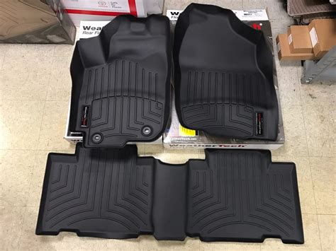 floor mats rav4 2017 weathertech 174 floorliner 2013 2017 toyota rav4 1st 2nd row black 445101 445102 ebay
