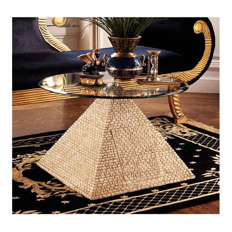 themed coffee table design toscano great pyramid coffee table in sand 4369