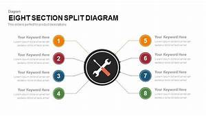 8 Section Split Diagram For Powerpoint And Keynote Presentation