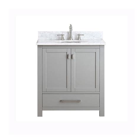 Shop Avanity Modero Chilled Gray Single Sink Vanity With