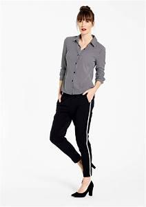 Pantalon Avec Bande Sur Le Coté : pantalon fluide avec bande sur le cot lolaliza ~ Melissatoandfro.com Idées de Décoration