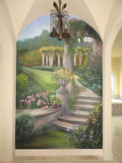 landscape garden mural mural photo album  norma ruffinelli