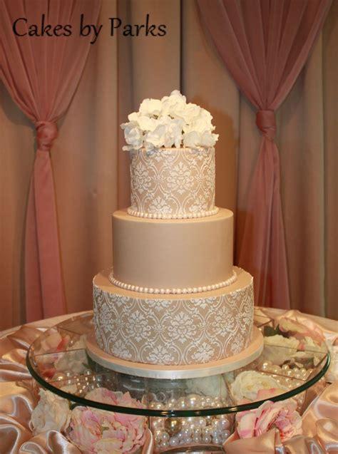champagne colored wedding cakes idea   bella wedding
