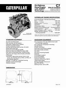 Caterpillar C7 Engine Specs
