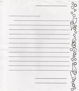 paper with beautiful border for letter writing