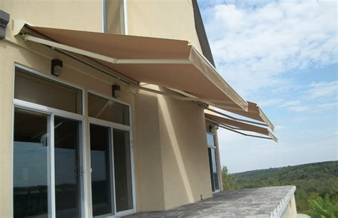neutral beige awnings rolltec retractable awnings toronto ontario canada