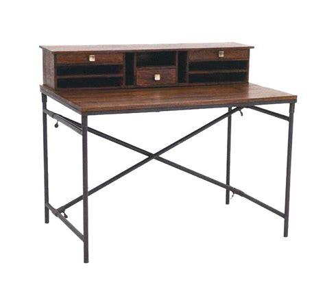 bureau bois et fer bureau style industriel en palissandre une élégance