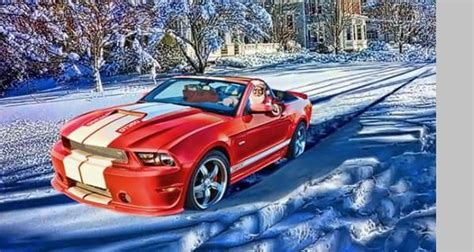 ford mustang santa claus picture