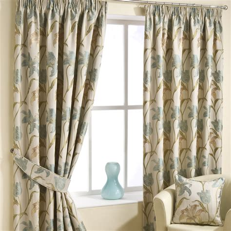 duckegg pencil pleat luxury ready made curtains