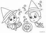 Bubble Guppies Coloring Pages Halloween Printable sketch template