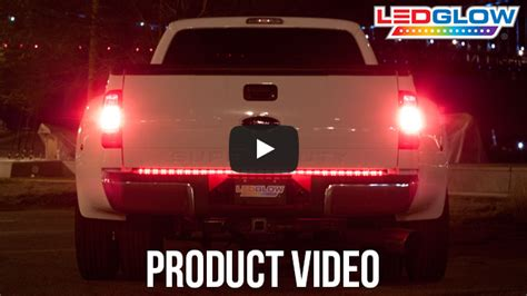 ledglow 60 inch red led ledglow 60 inch full size red led truck tailgate light bar