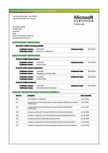 mcse transcriptpdf With microsoft certification documents
