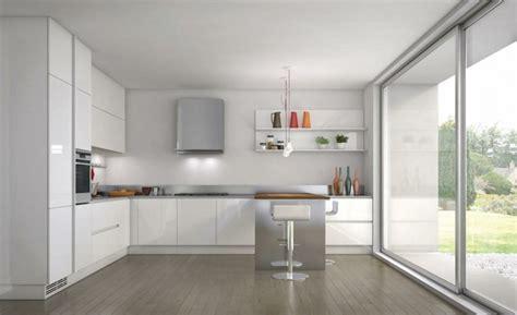 cuisine avec porte fenetre 53 variantes pour les cuisines blanches