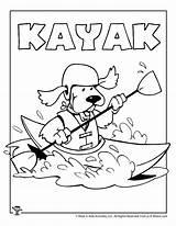 Coloring Kayak Pages Crafts Printable Patterns Printables Activities sketch template