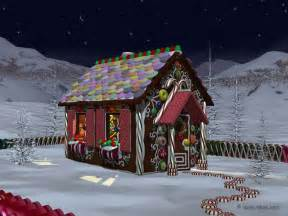Wallpaper Gingerbread House gingerbread house landscapes