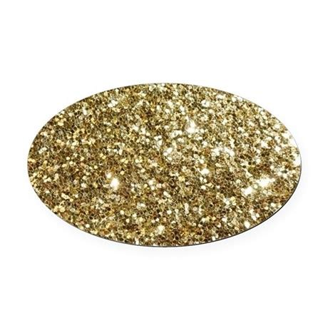 gold glitter car realistic gold sparkle glitter oval car magnet by admin