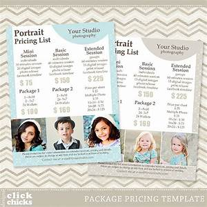 Photography package pricing list template portrait for Wedding photography packages samples
