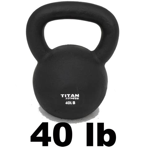 lbs kettlebell weight cast titan swing solid iron workout fitness natural