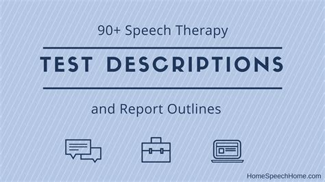 speech therapy test descriptions   fingertips