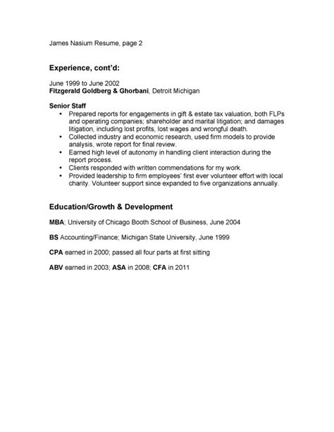 exle resume sle resume bullet points