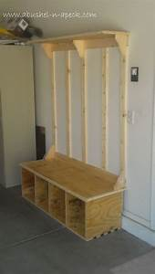 Build Shoe Storage Bench - WoodWorking Projects & Plans
