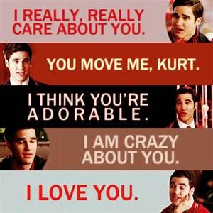 Image - Klaine ... Glee Rumors Quotes