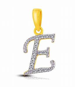 letter quotequot shaped gold diamond pendant by me jewels buy With letter e diamond pendant