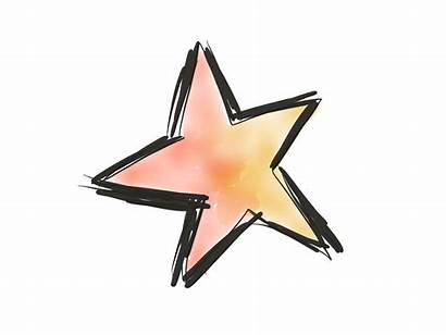 Star Sketch Bright Drawing Doodle History Hand