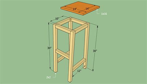 diy wooden bar stool plans ambla
