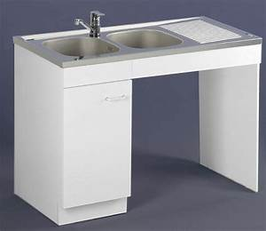 Meuble Sous Evier 120 : meuble de cuisine sous vier pmr aquarine ~ Nature-et-papiers.com Idées de Décoration