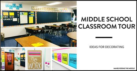 great classroom decorating ideas middle school classroom tour maneuvering the middle