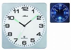 Horloge Murale Silencieuse : horloge murale radio pilot e carr e luminescente silencieuse ~ Melissatoandfro.com Idées de Décoration