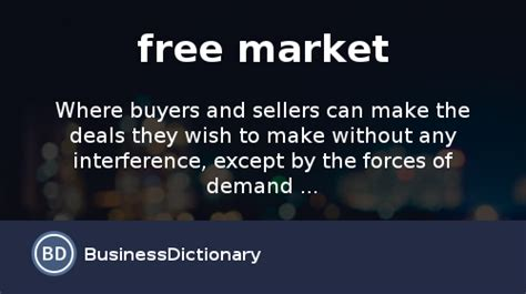 free market what is free market definition and meaning