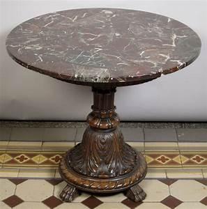Runder Tisch 80 Cm Durchmesser : runder tisch mit marmorplatte epoche neorenaissance holzart nussbaum ma e h he 67 cm ~ Bigdaddyawards.com Haus und Dekorationen
