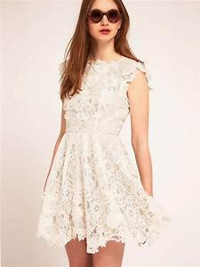 Short cream lace wedding dresses styles of wedding dresses for Short cream wedding dresses