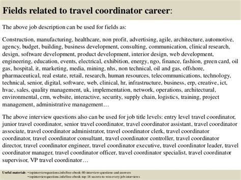 top 10 travel coordinator questions and answers