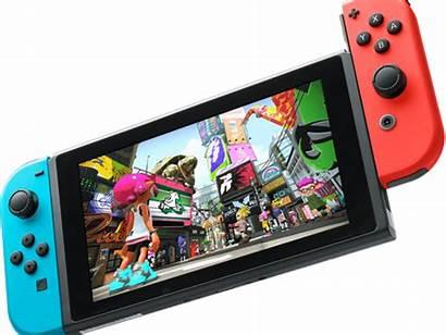 Nintendo Switch Splatoon Games Consoles Transparent Background