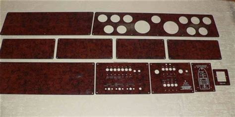 instrument gauge switch electronics blank panels  sea ray boats
