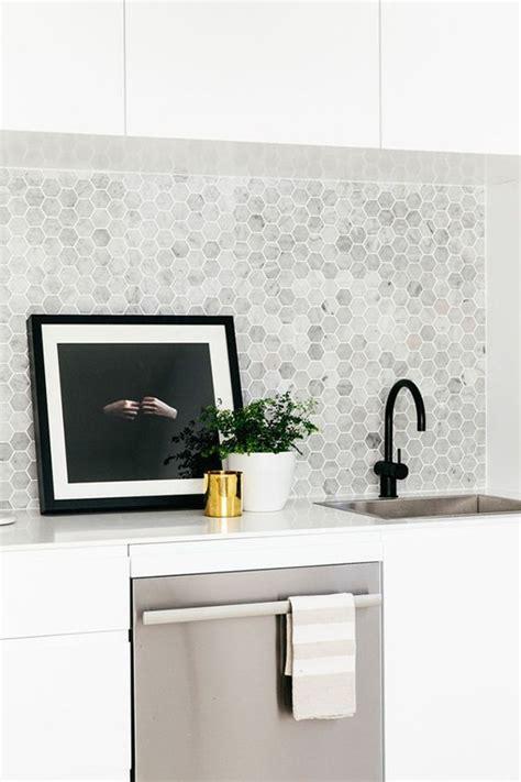 hexagon tile kitchen backsplash 25 stylish hexagon tiles for kitchen walls and backsplashes