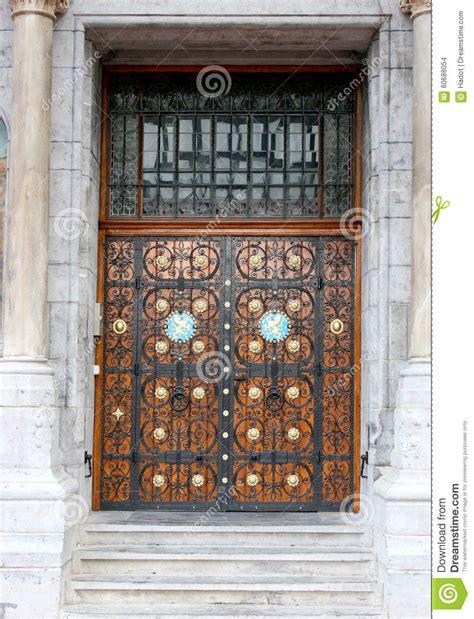 Beautiful Wooden Door Stock Photo  Image 60688054