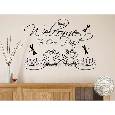 Welcome, Family Wall Sticker Quote, Home, Lounge, Hall